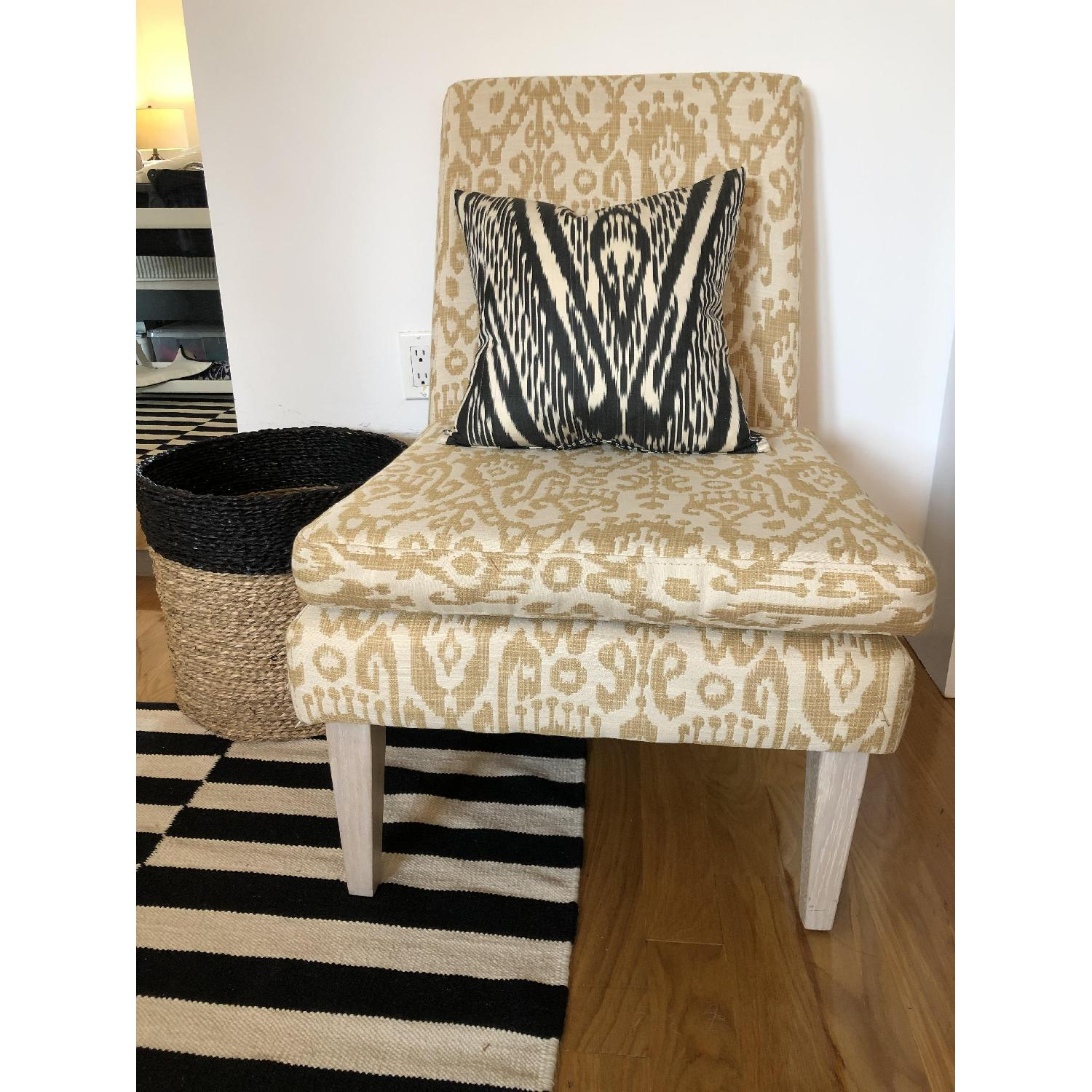 West Elm Ikat Upholstered Slipper Accent Chair - image-3