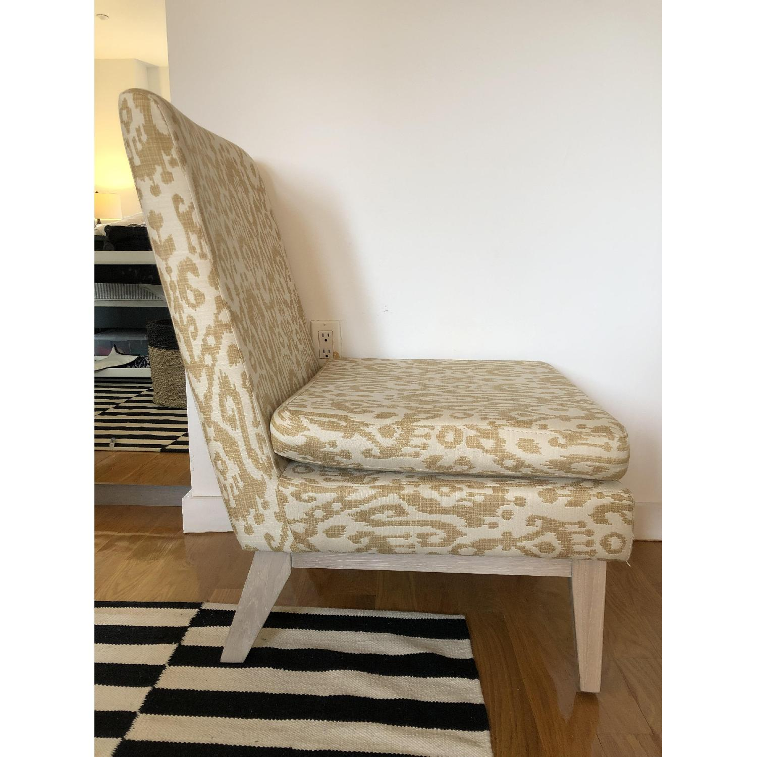 West Elm Ikat Upholstered Slipper Accent Chair - image-4