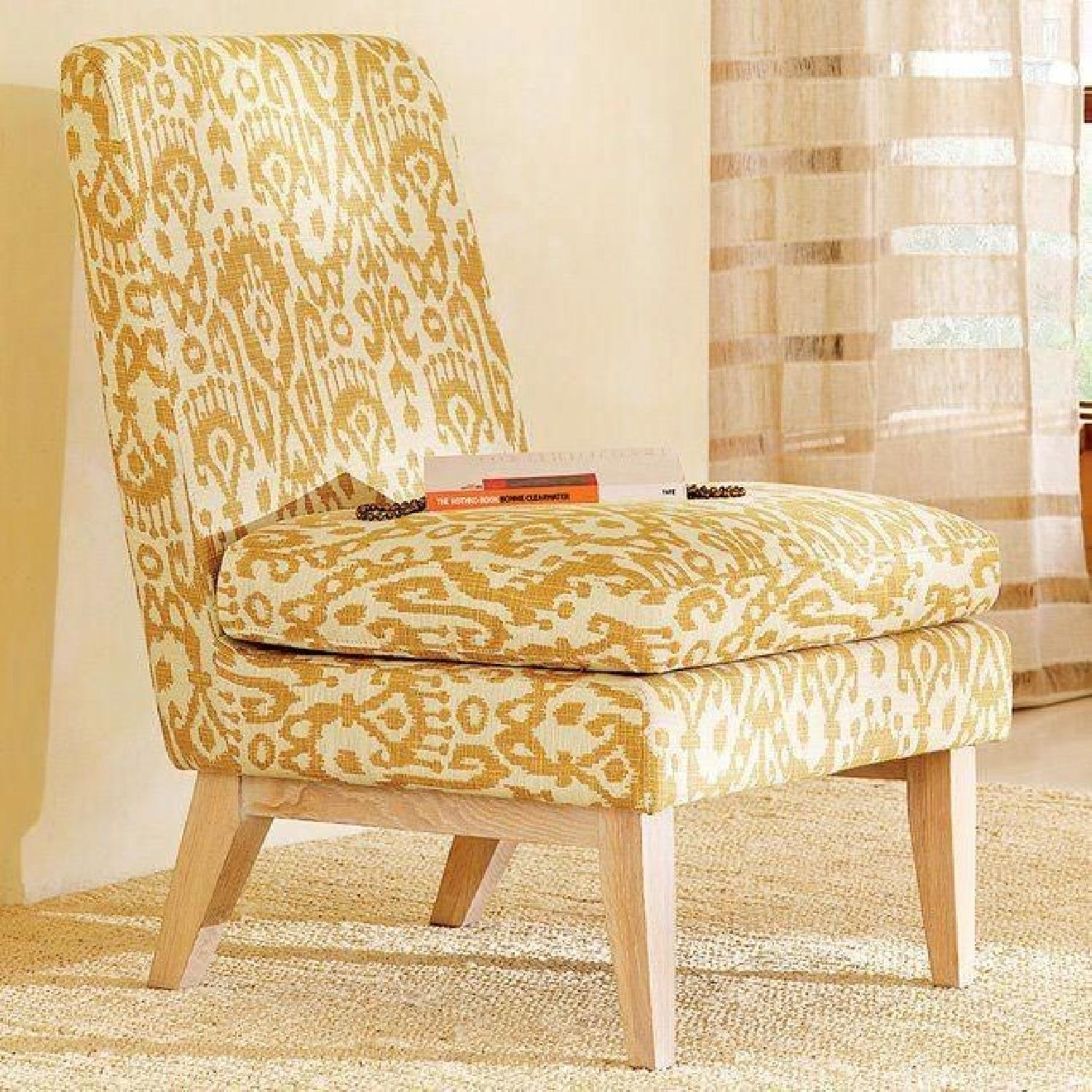 West Elm Ikat Upholstered Slipper Accent Chair - image-6