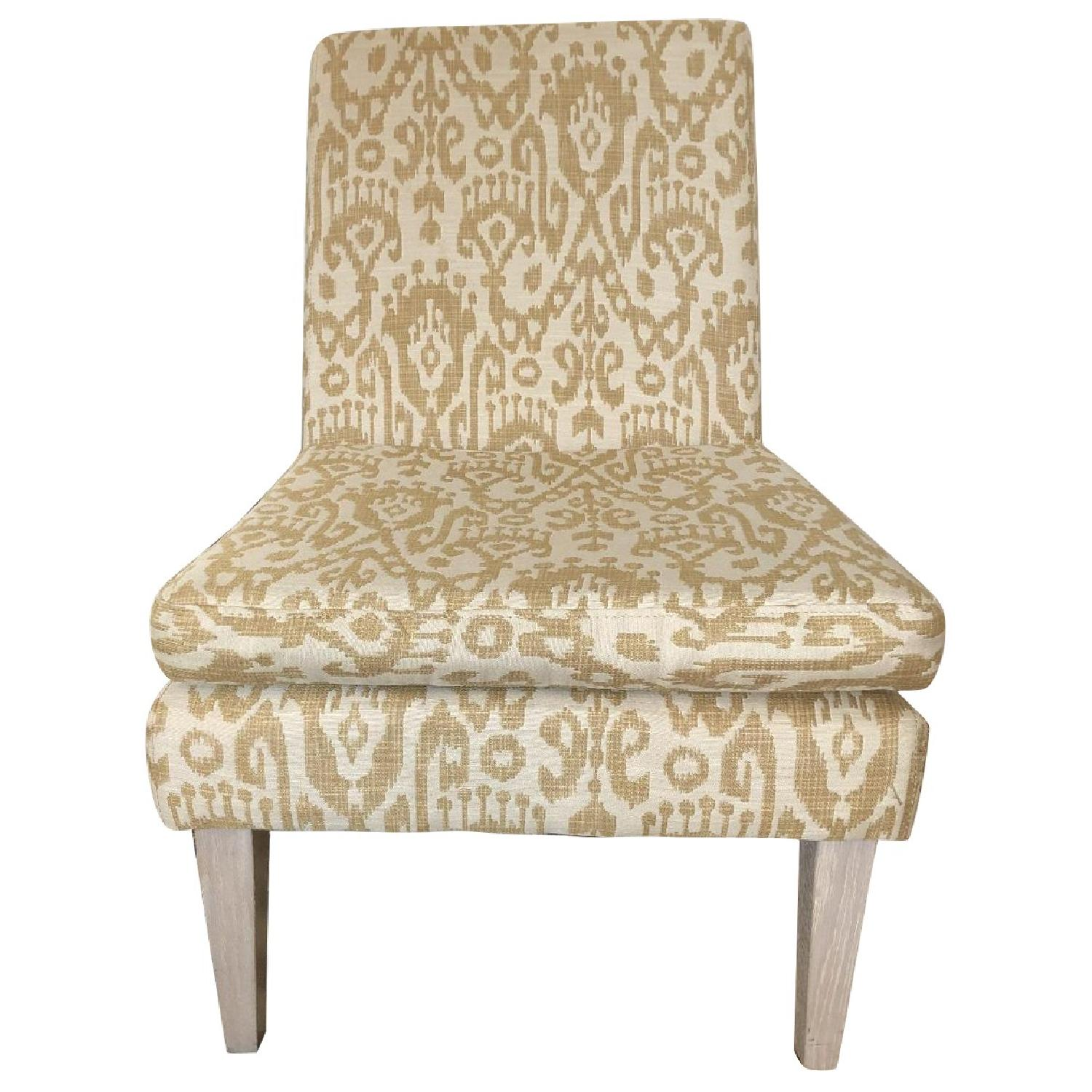 West Elm Ikat Upholstered Slipper Accent Chair - image-0