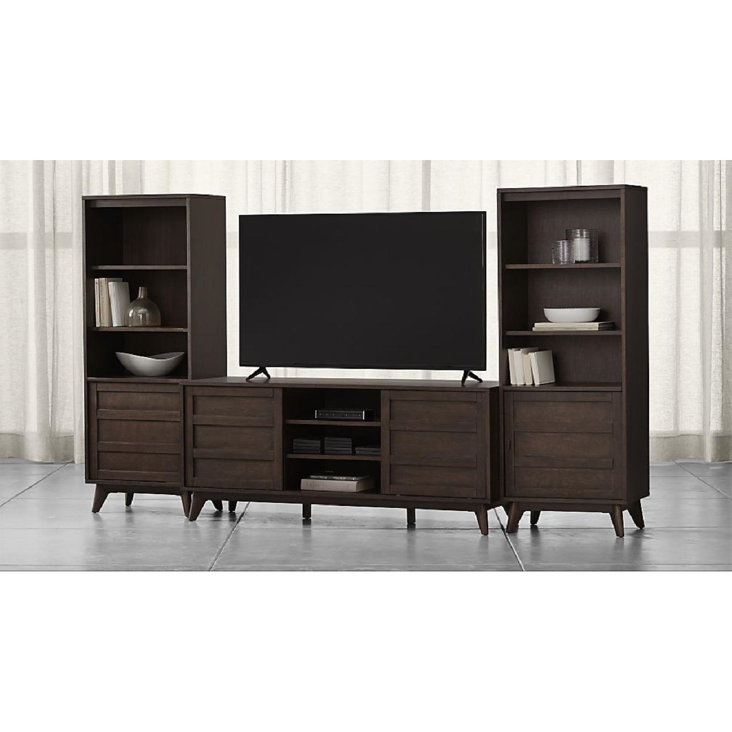 Crate & Barrel HD Media Console w/ 2 Towers
