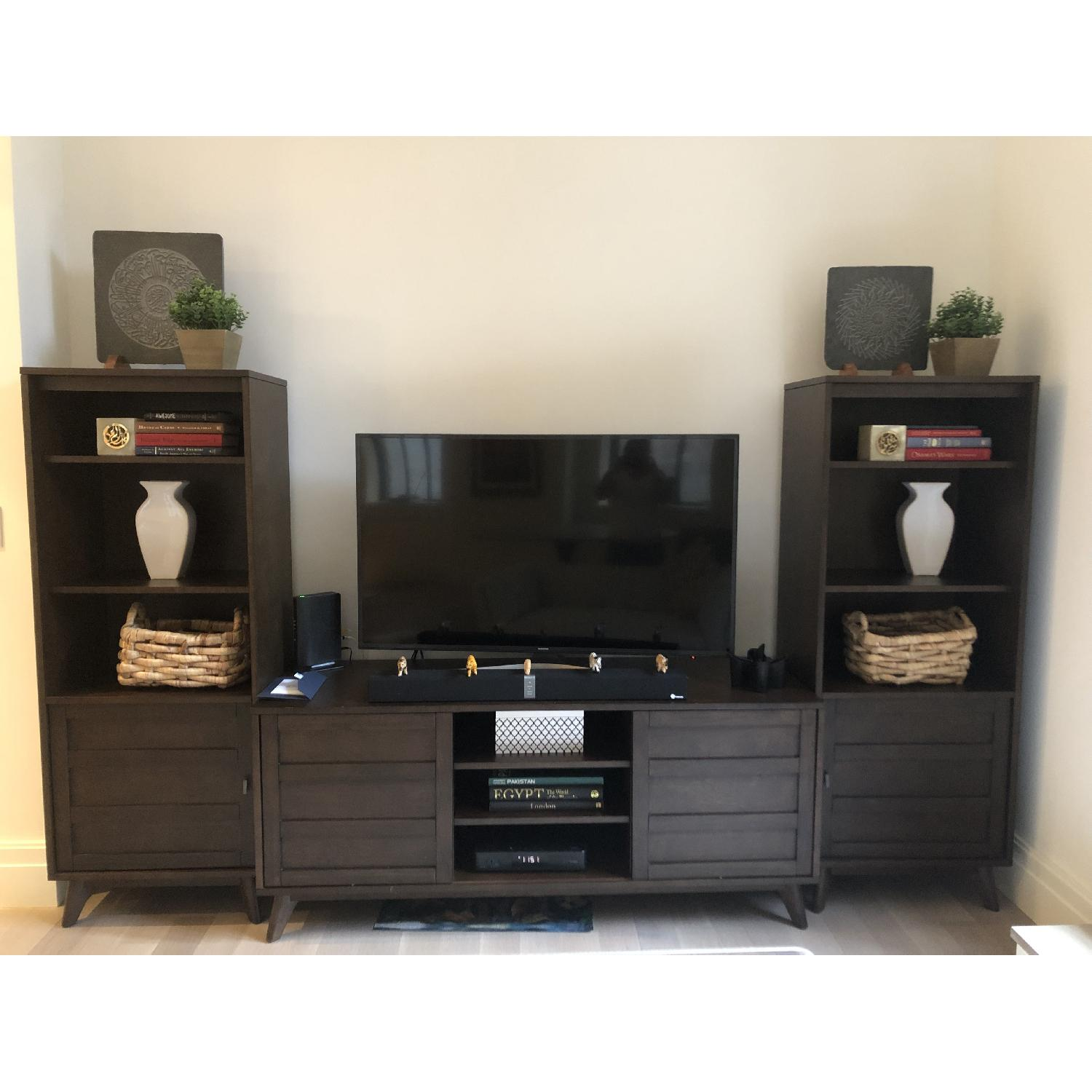 Crate & Barrel HD Media Console w/ 2 Towers-0