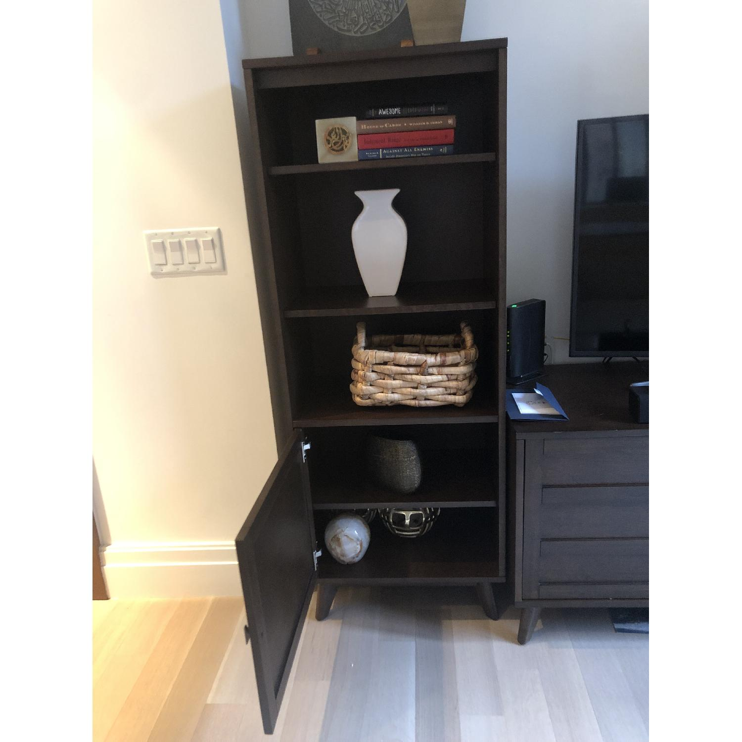 Crate & Barrel HD Media Console w/ 2 Towers-1