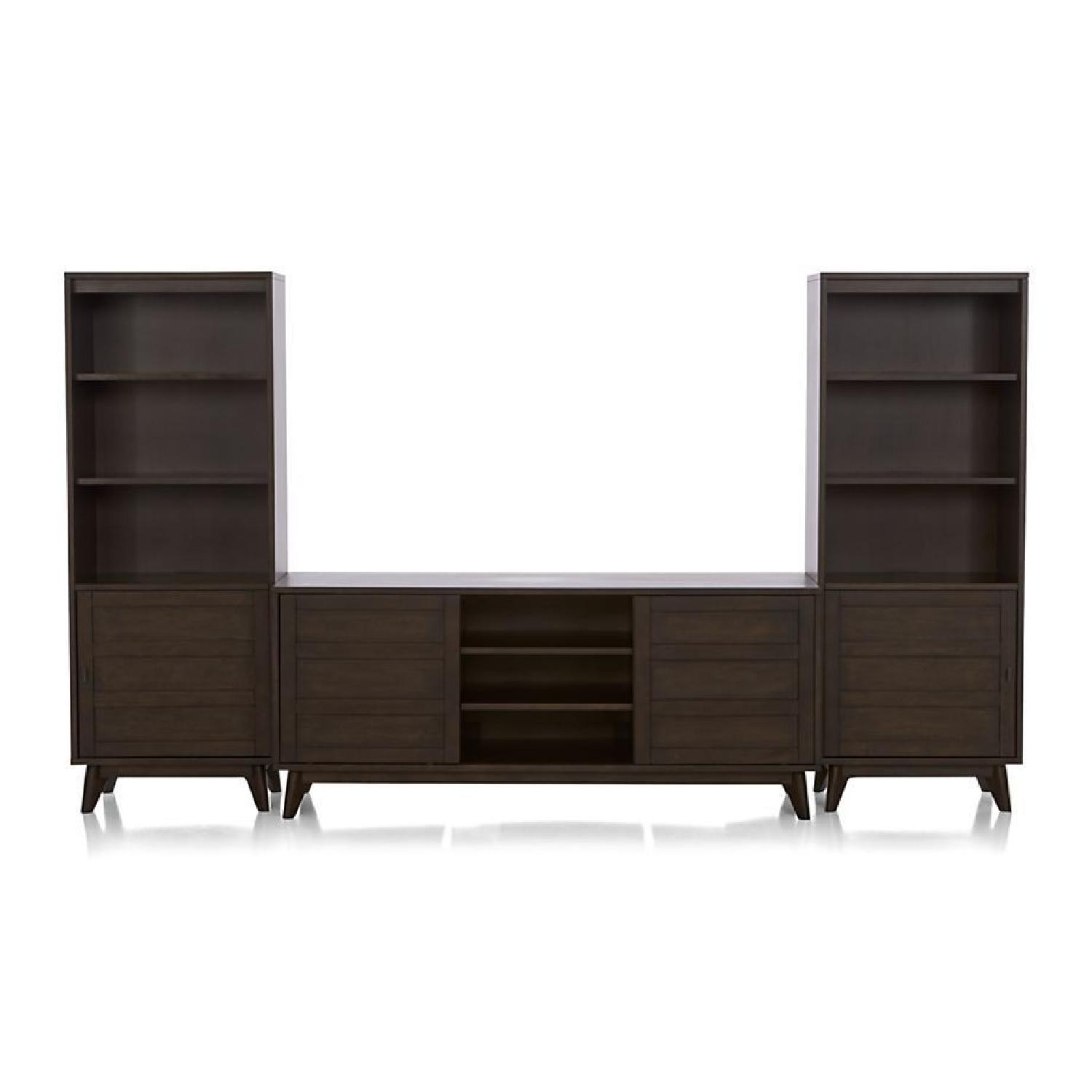 Crate & Barrel HD Media Console w/ 2 Towers - image-3