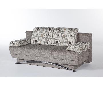 Twin Size Convertible Sleeper Sofa w/ Storage