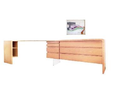 Vladimir Kagan Custom Dresser w/ Desk Combination Piece