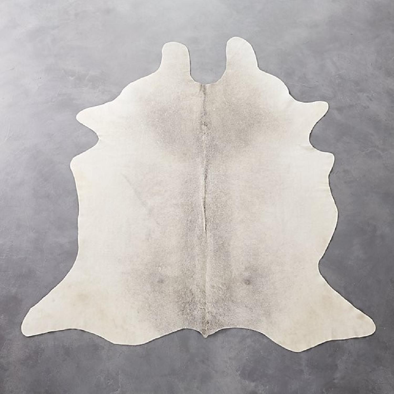 CB2 Grey Cowhide Rug - image-1