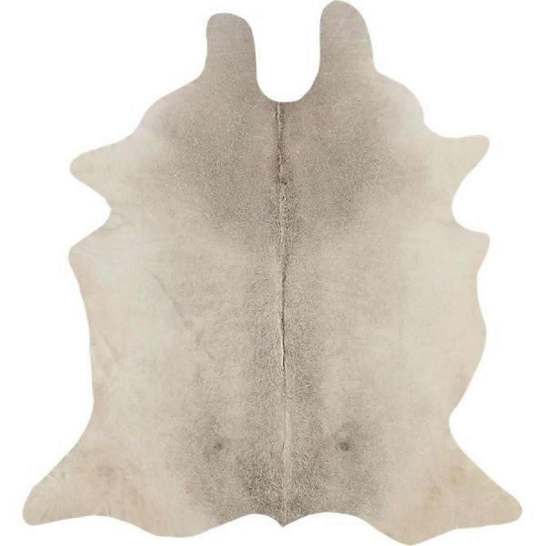 CB2 Grey Cowhide Rug - image-0