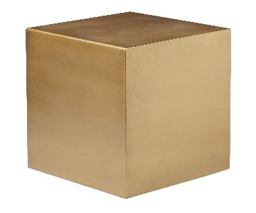Pangea Home Spencer Large Side Table in Brass