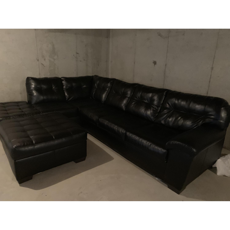 Bob's Black 3 Piece Sectional Sofa - image-1