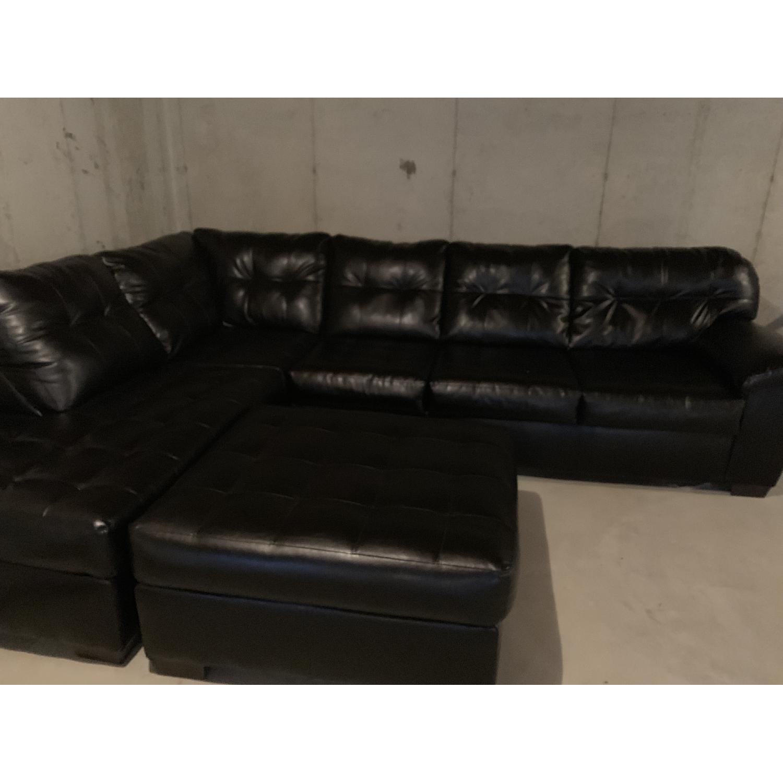 Bob's Black 3 Piece Sectional Sofa - image-2