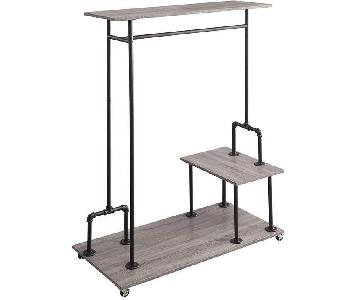 Williston Forge Nicola Rustic Clothing Rack