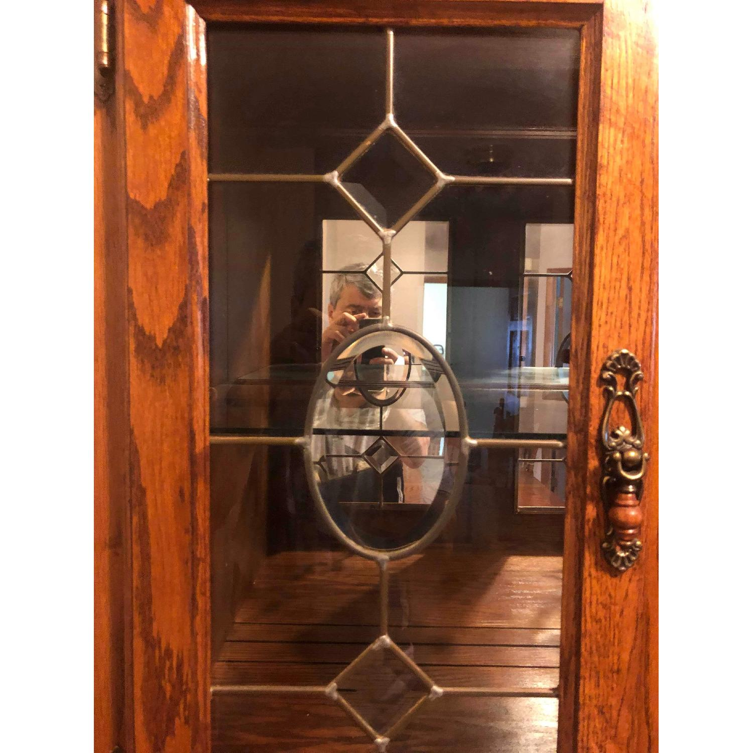 Solid Wood Early American Style Hutch w/ Lights - image-11