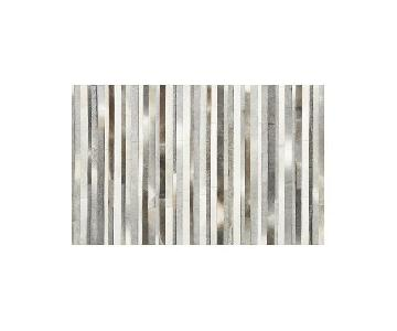 Crate & Barrel Fonda Grey Cowhide Rug