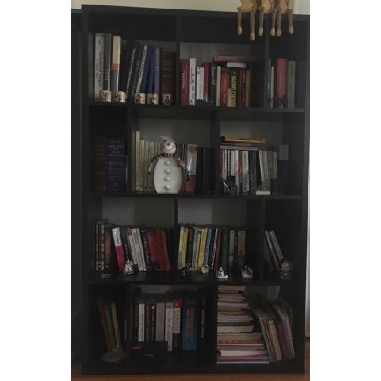 Geometric Wood Bookcase-0
