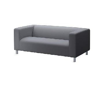 Ikea Klippan Grey Fabric Loveseat