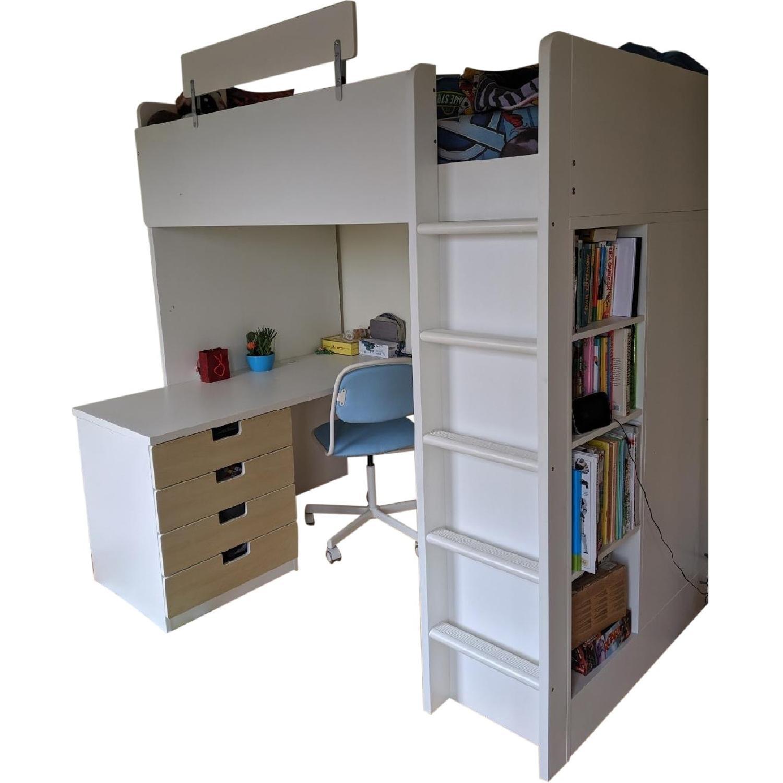 Image of: Ikea Stuva Loft Bed W Desk Chair Aptdeco