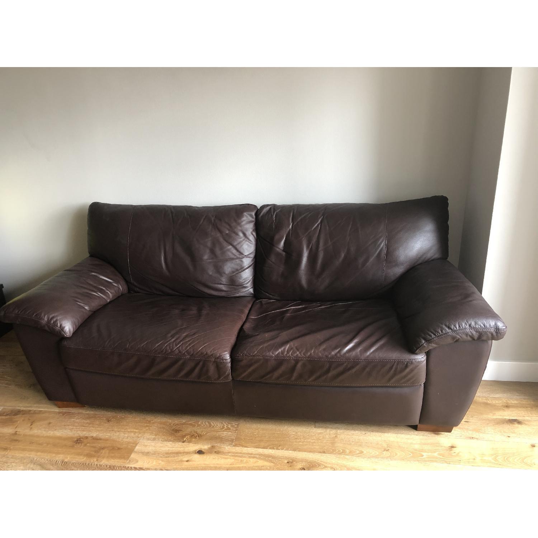 Ikea Vreta Leather Sofa - image-1