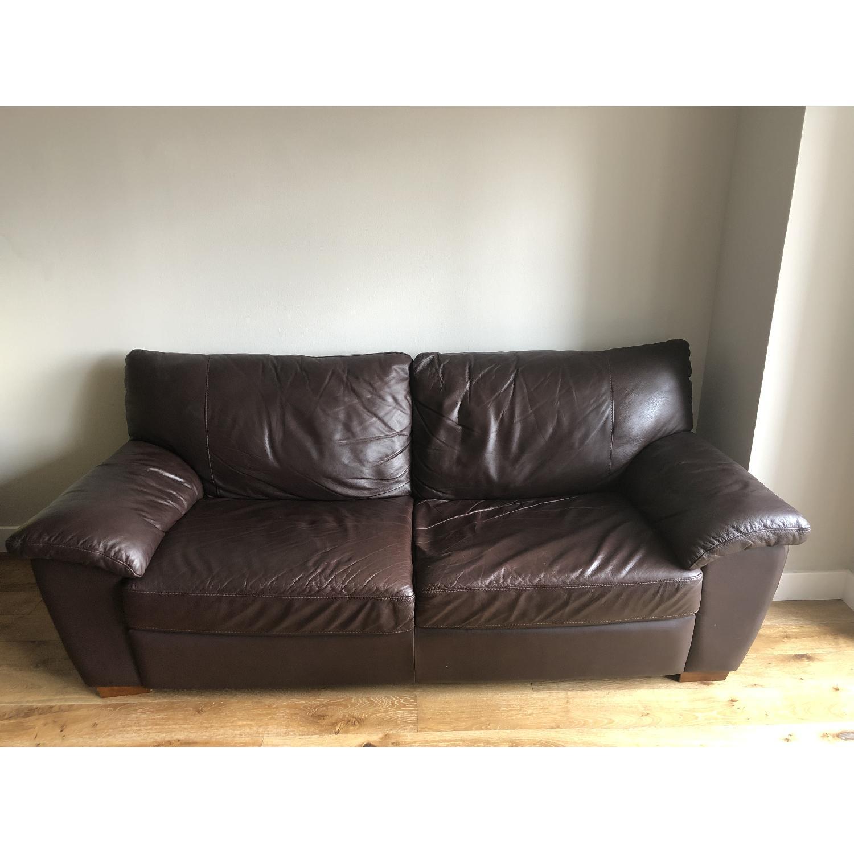 Ikea Vreta Leather Sofa - image-2