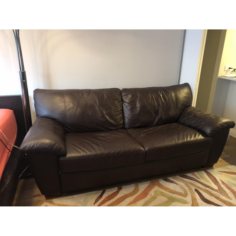 Ikea Vreta Leather Sofa - image-3