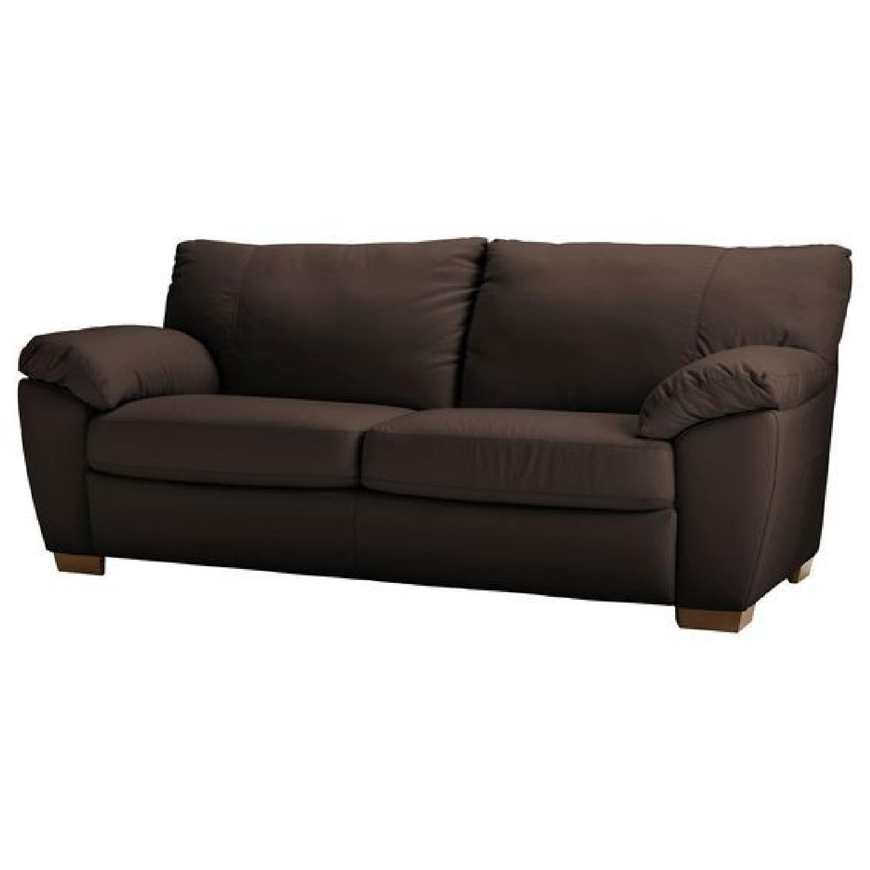 Ikea Vreta Leather Sofa - image-0