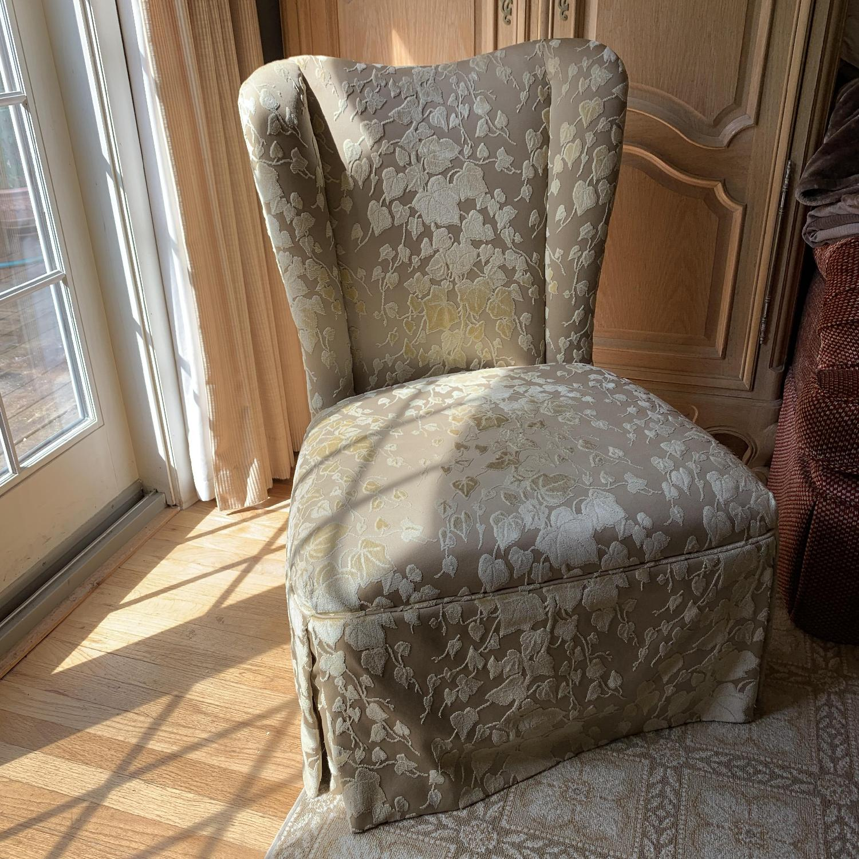 Brunschwig & Fils Upholstered Slipper Chair in Custom Fabric - image-1