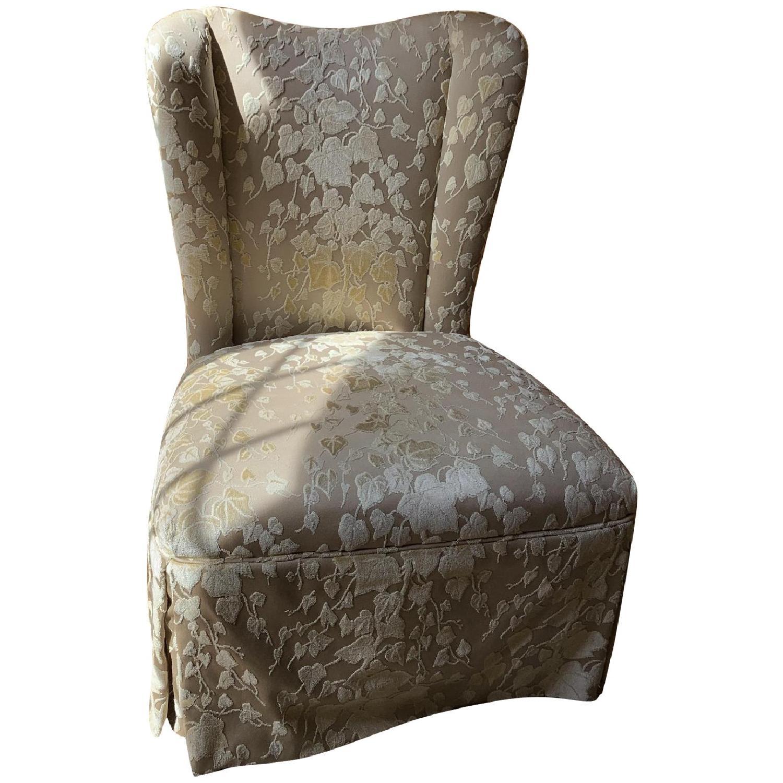 Brunschwig & Fils Upholstered Slipper Chair in Custom Fabric - image-0