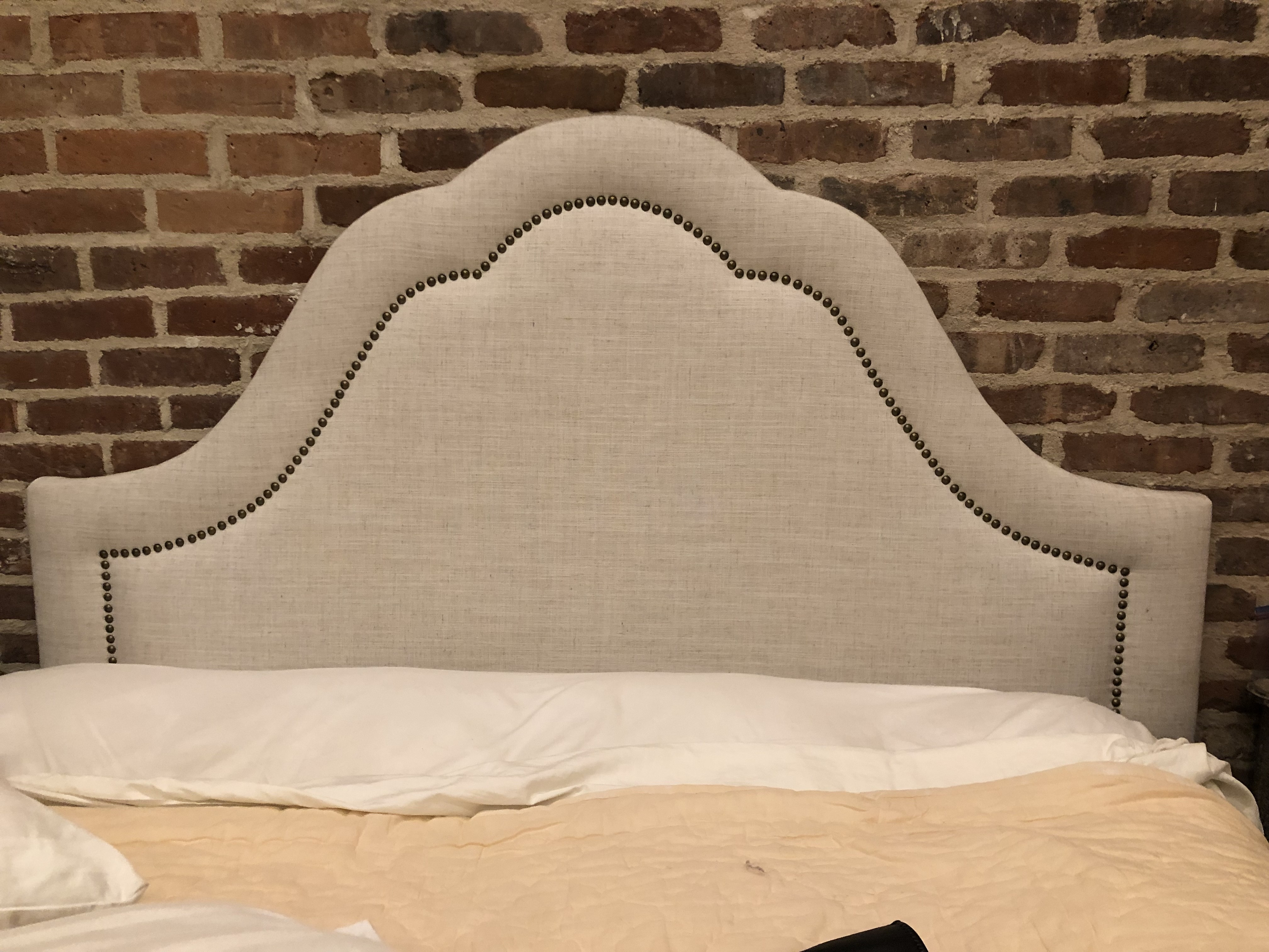 Skyline Chaumont Upholstered Headboard in Talc