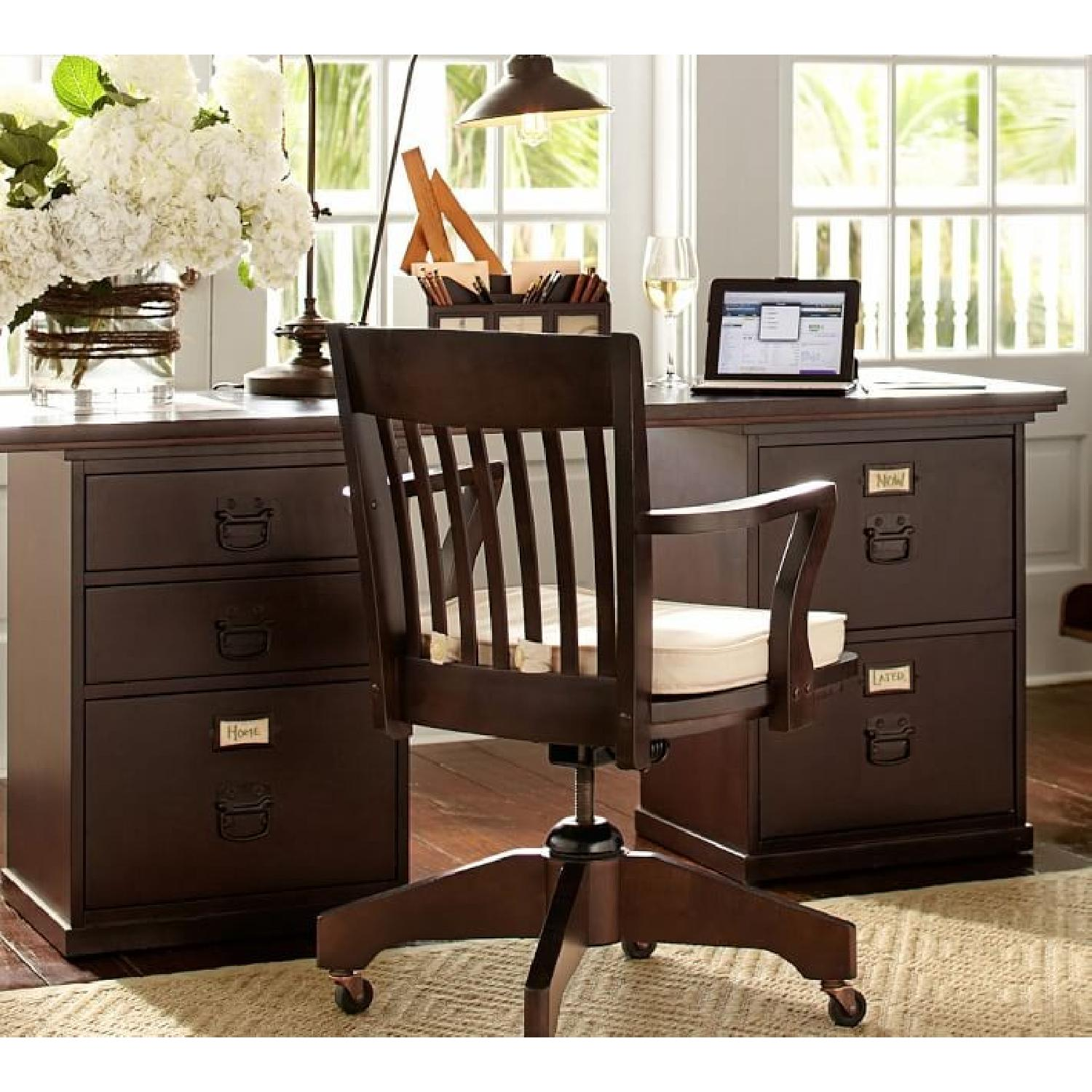 Pottery Barn Bedford Desk w/ Hutch - image-1
