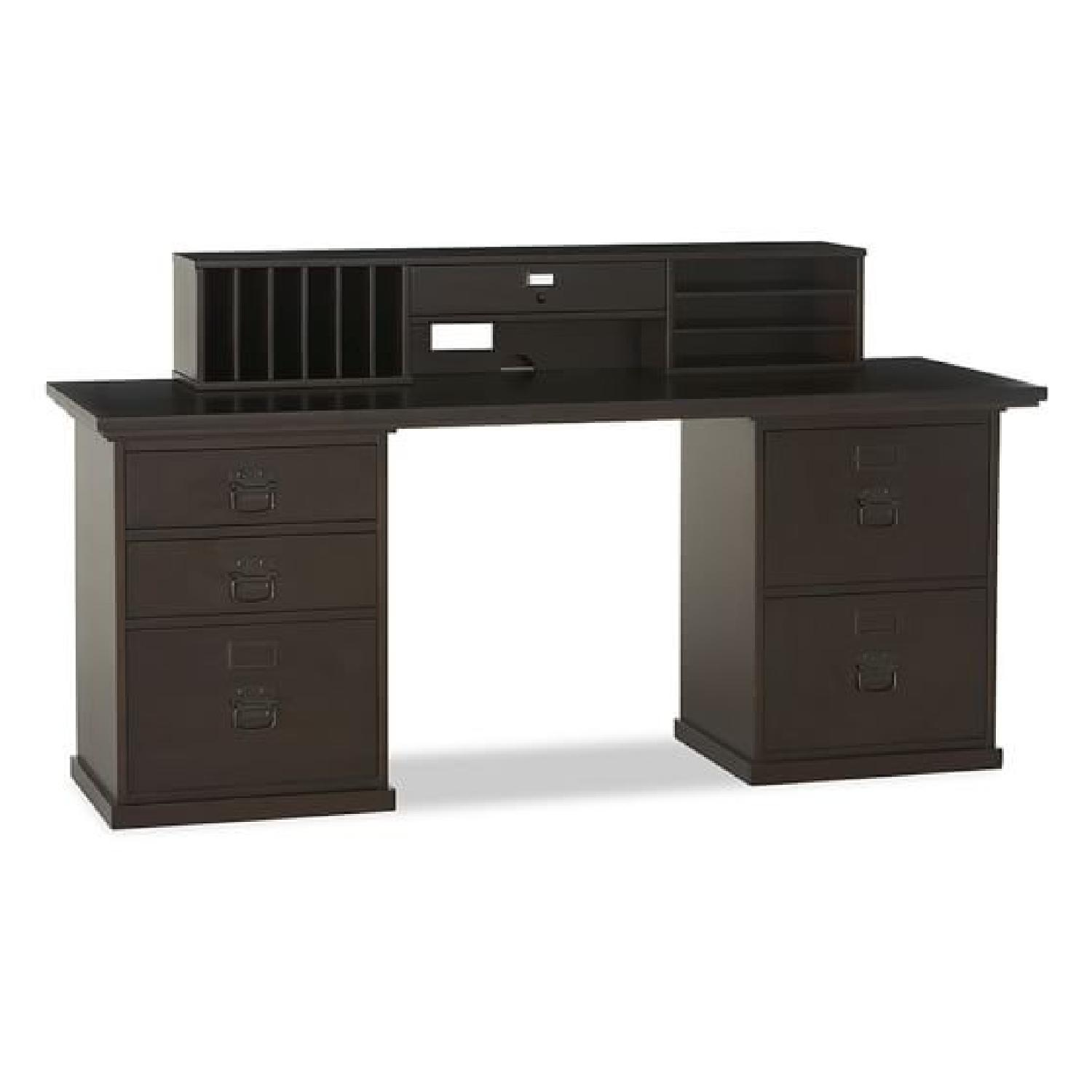 Pottery Barn Bedford Desk w/ Hutch - image-0