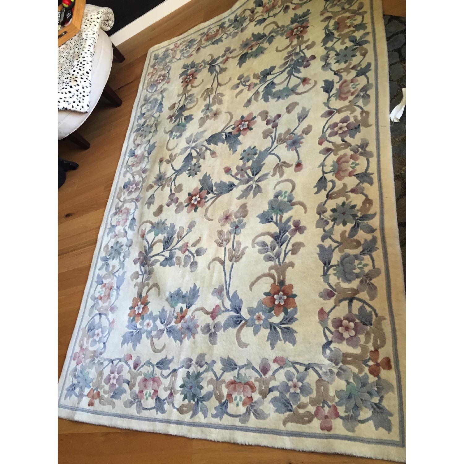Oriental Hand Knotted Wool Area Rug - image-7