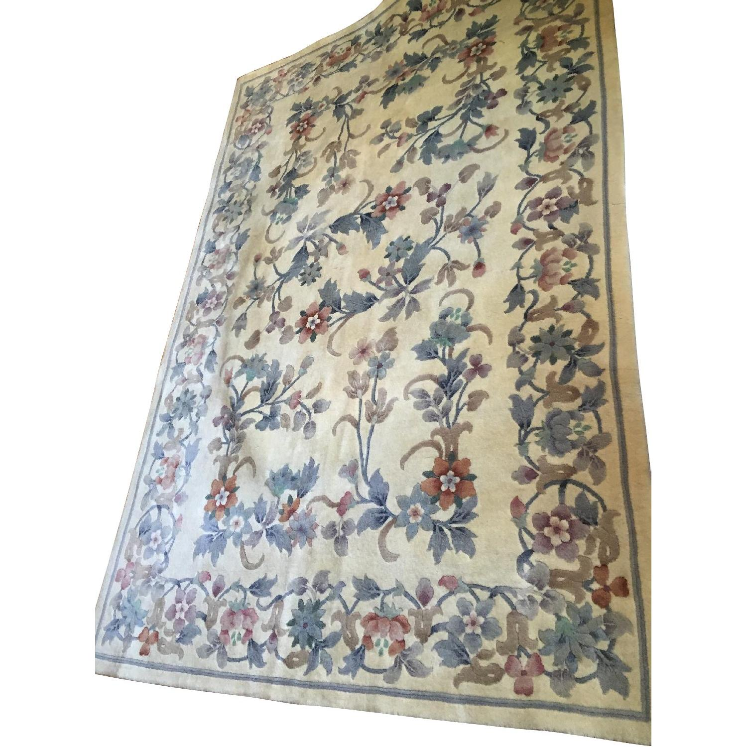Oriental Hand Knotted Wool Area Rug - image-0