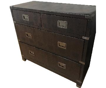 Accent Chest w/ Drawers in Dark Brown Faux Crocodile Finish