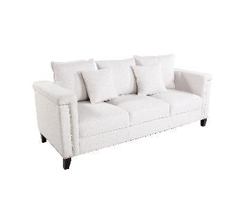 France & Son Imogen White Sofa