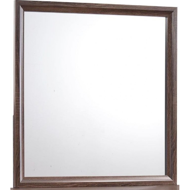 Transitional Dresser Mirror in Warm Brown Finish - image-0
