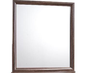Transitional Dresser Mirror in Warm Brown Finish