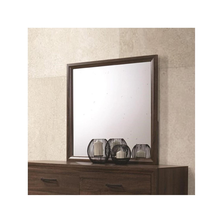 Transitional Dresser Mirror in Warm Brown Finish - image-2