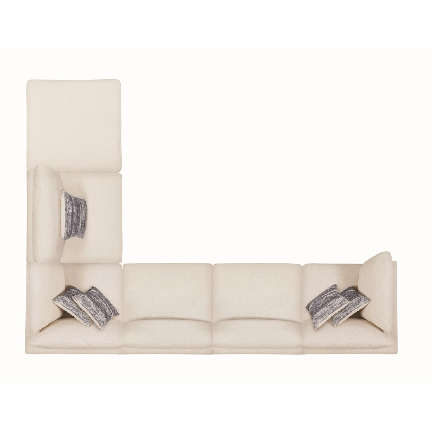 Modern Daybed w/ Trundle Upholstered in Light Grey Fabric - image-8