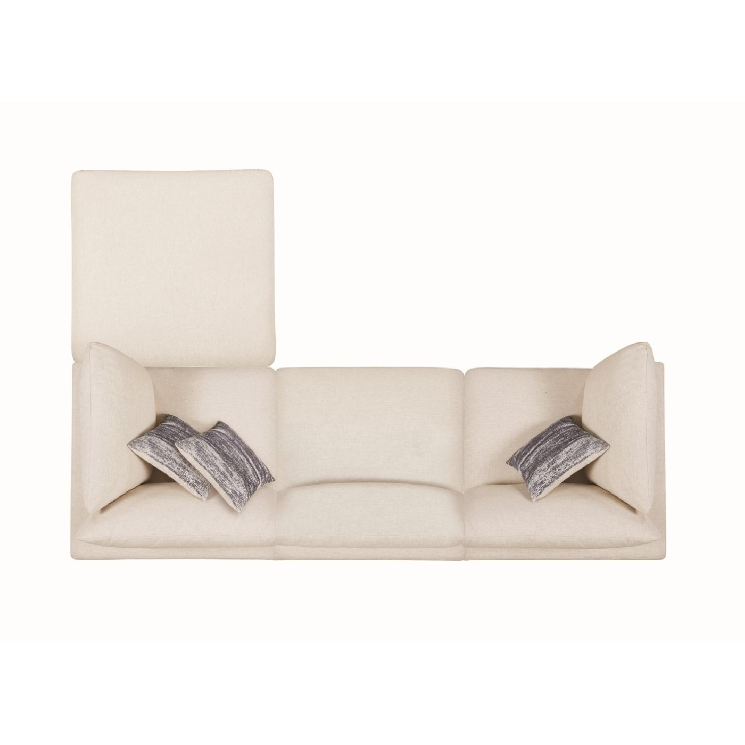 Modern Daybed w/ Trundle Upholstered in Light Grey Fabric - image-11