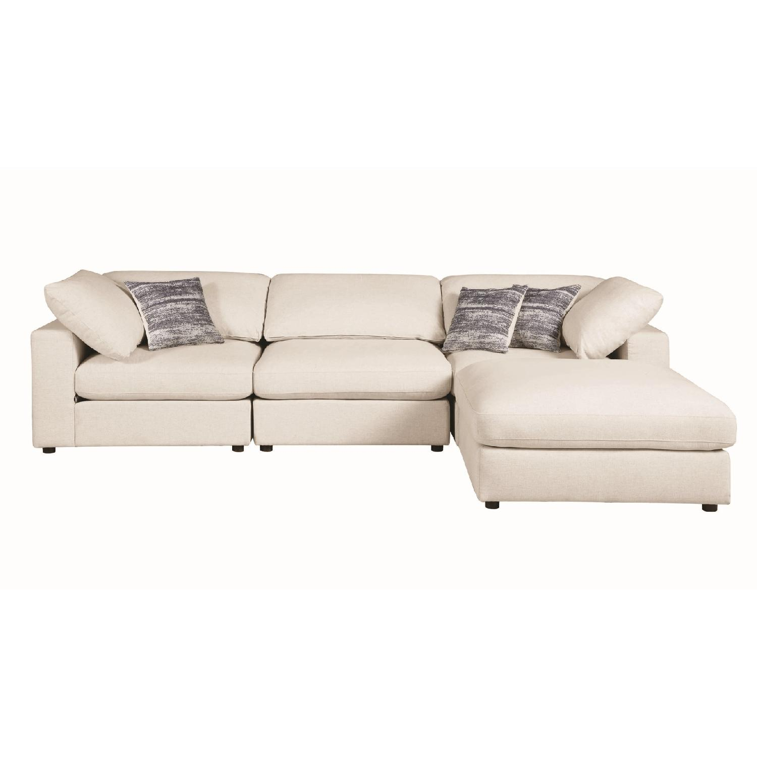 Modern Daybed w/ Trundle Upholstered in Light Grey Fabric - image-16