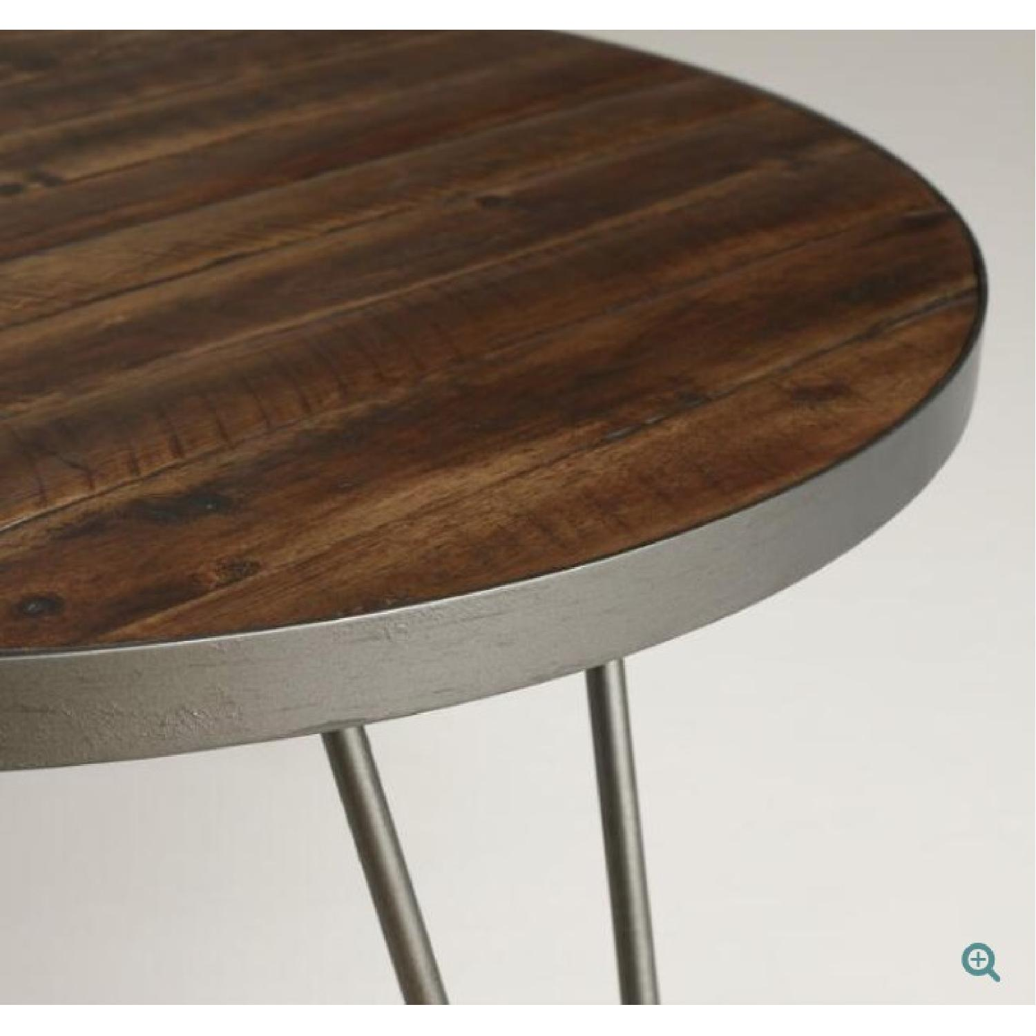 World Market Round Wood Hairpin Coffee Table - image-1