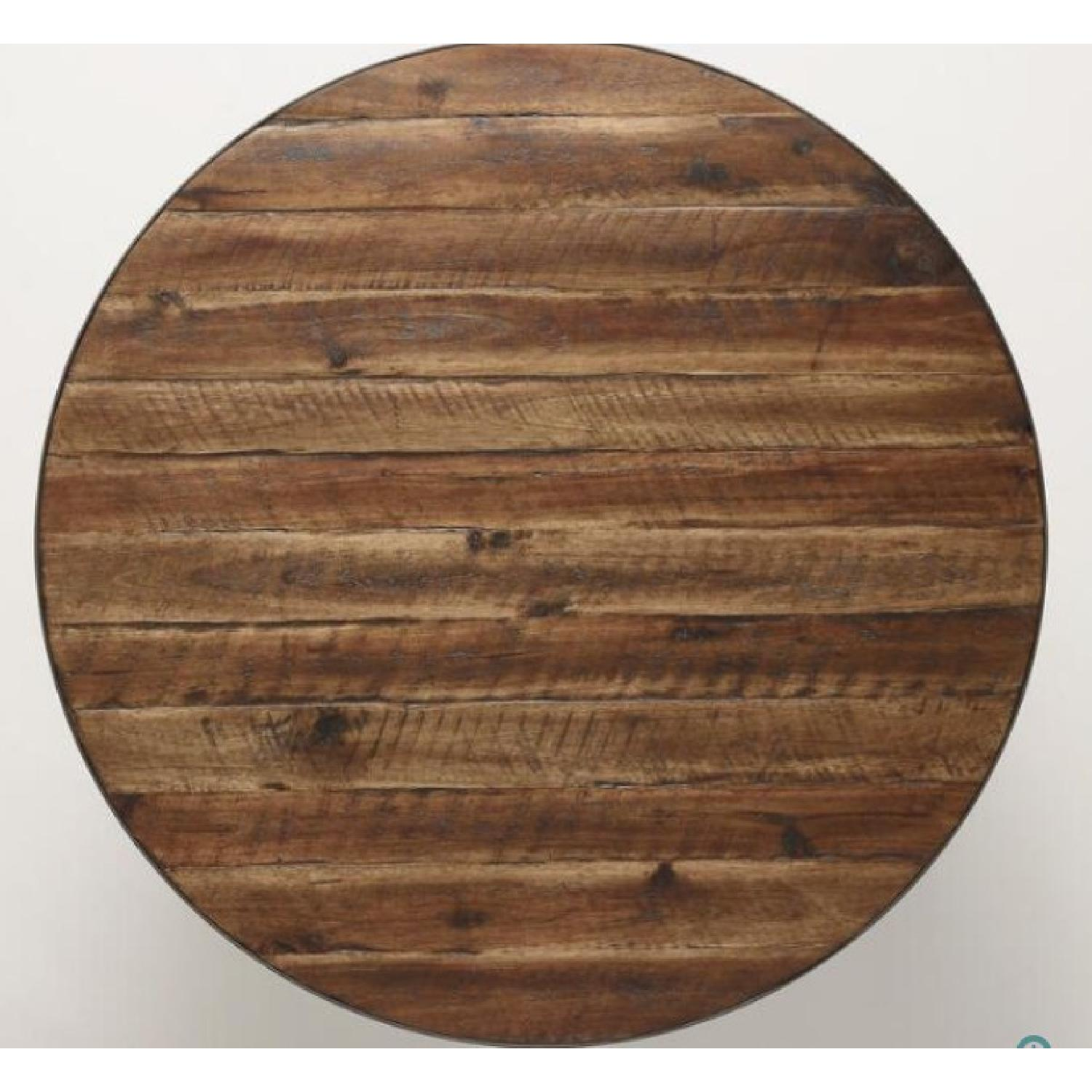 World Market Round Wood Hairpin Coffee Table - image-3