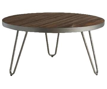 World Market Round Wood Hairpin Coffee Table