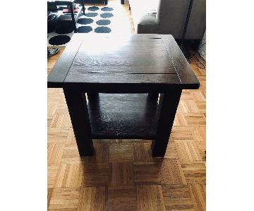 Pottery Barn Benchwright Cube Side Tables