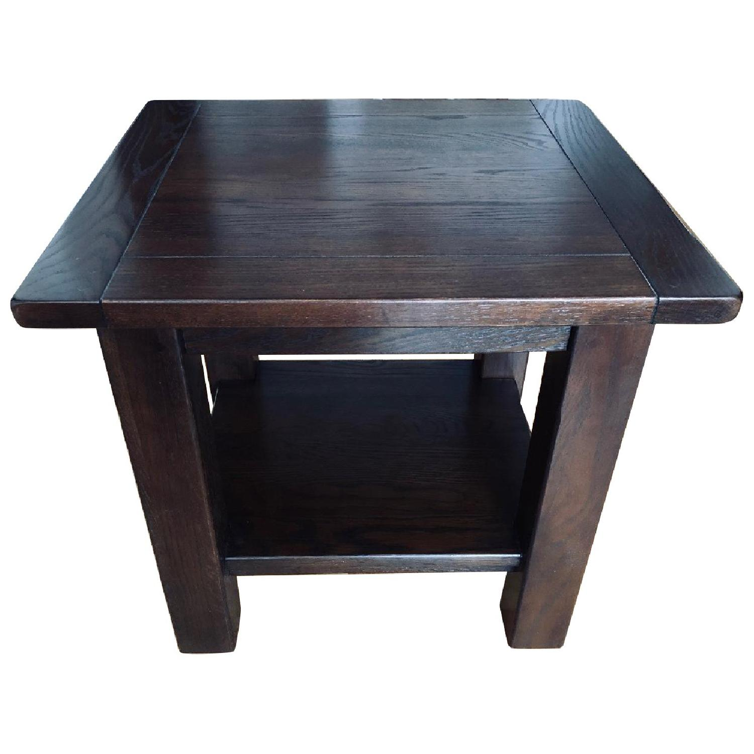 Pottery Barn Benchwright Cube Side Tables - image-0