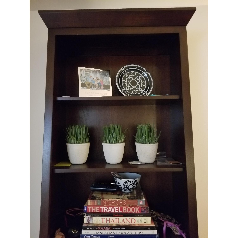 Ethan Allen Wood Tall Bookcase-0