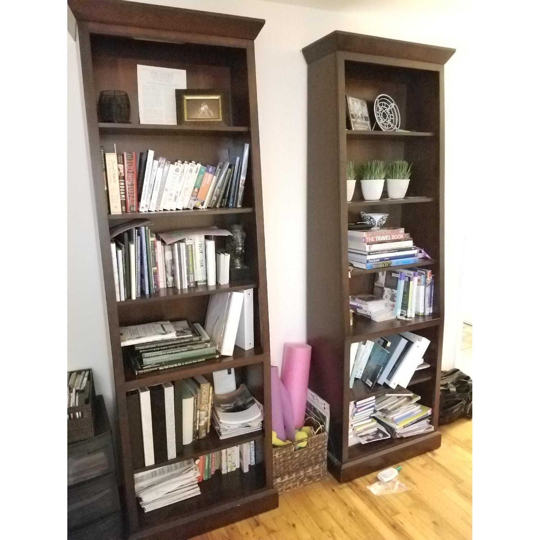 Ethan Allen Wood Tall Bookcase-1