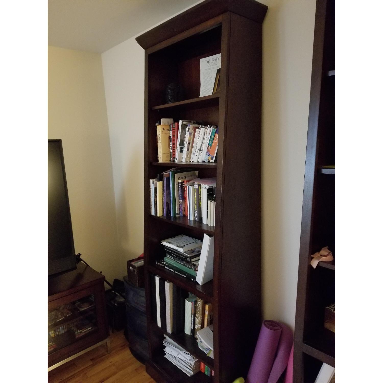 Ethan Allen Wood Tall Bookcase-2