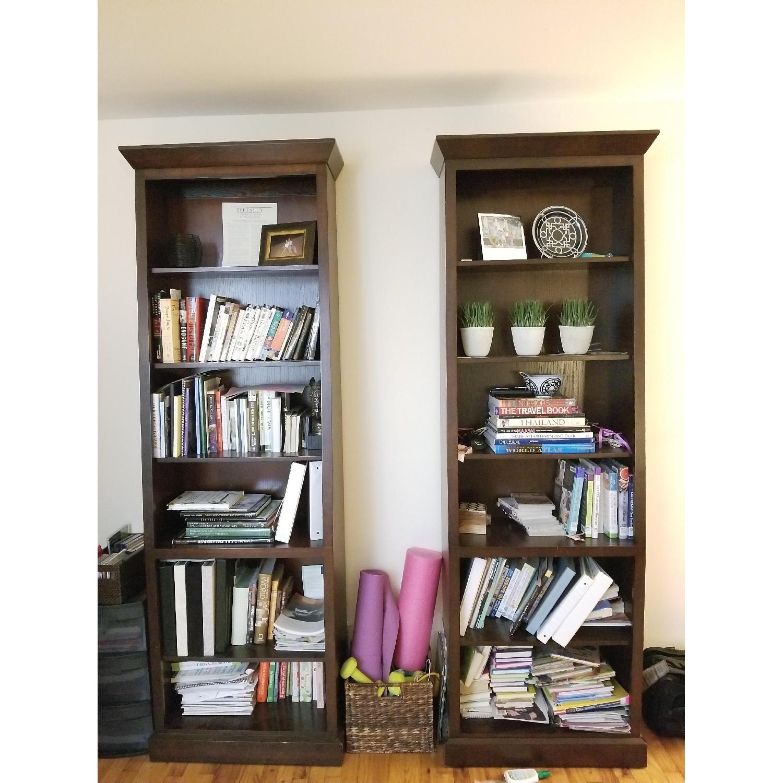 Ethan Allen Wood Tall Bookcase-3