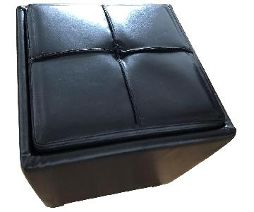 ikea Faux Leather Small Storage Ottoman